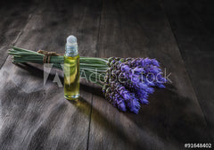 lavender grass and essential oil