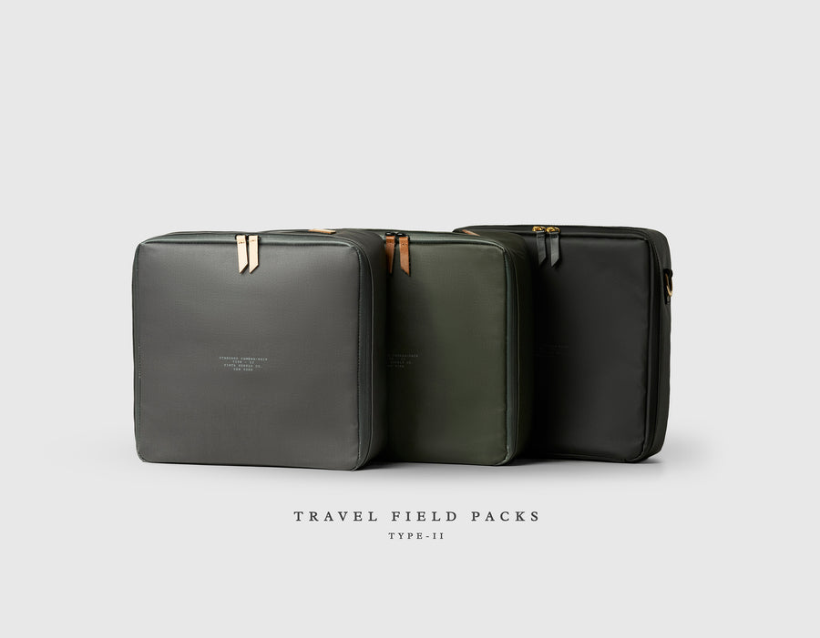 Type-II: Travel Field Pack + Leather Carry Straps
