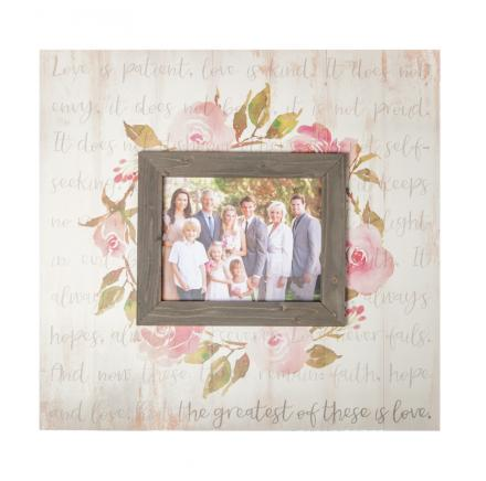The Greatest Of These Is Love Photo Frame
