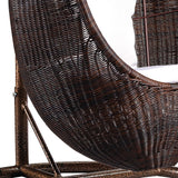 Rattan Hanging Egg Chair with Stand