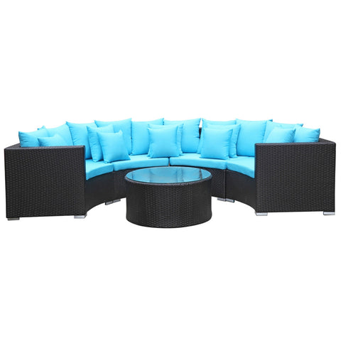 Roundano 5 Piece Outdoor Wicker Patio Set