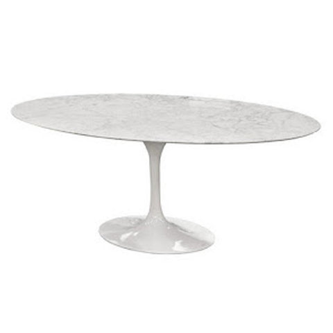 Replica Eero Saarinen Tulip Marble Table Oval 60""