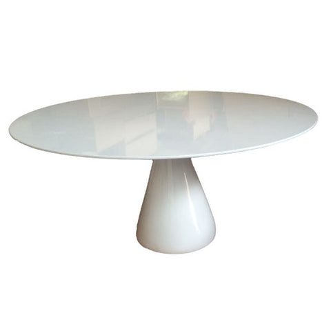 "Vase Base Dining Table 30"" - White"