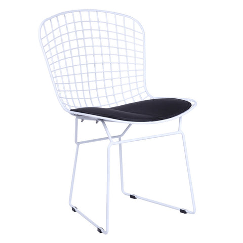 Replica Bertoia Wire Side Chair - White Wire