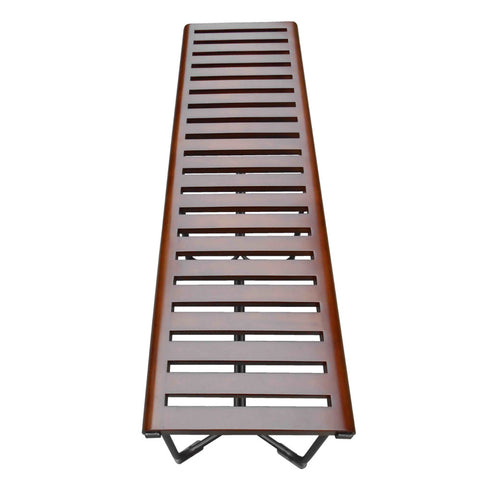 Slotted Wood Platform Bench 48""