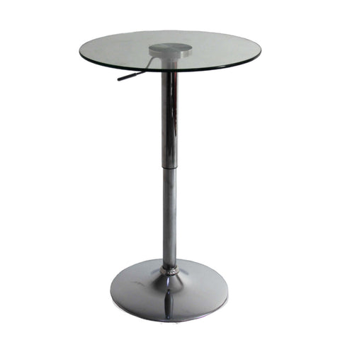 Replica Brio Adjustable Bar Table - Glass Top
