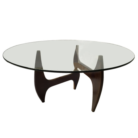 "Tribeca Noguchi Style Round Glass 48"" Dining Table"