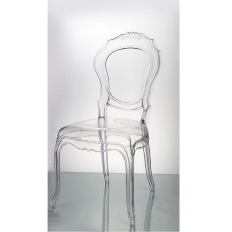 Clear Molded Traditional Dining Chair