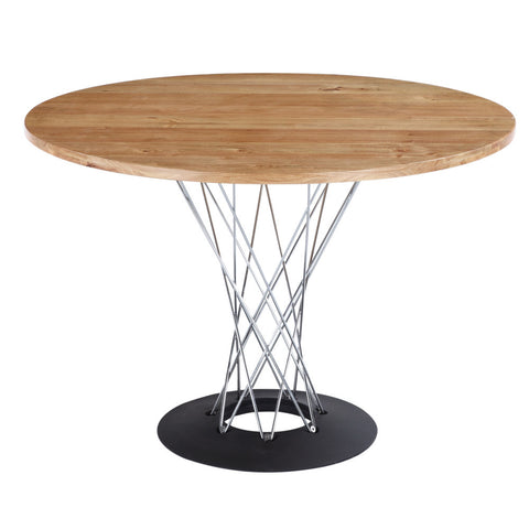 "Replica Noguchi Cyclone Dining Table 42"" - Rubberwood"