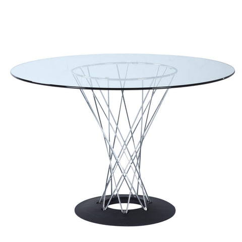 "Replica Noguchi Cyclone Dining Table 42"" - Glass"