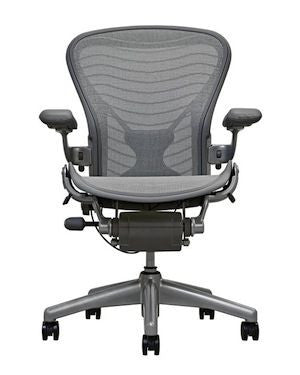 Herman Miller Aeron Loaded Size B PostureFit Gray Wave