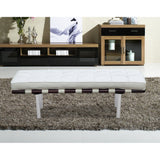 Barcelona Style 2-Seater Leather Bench
