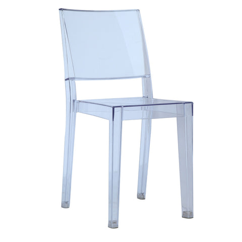Ghost Style Clear Square Side Chair