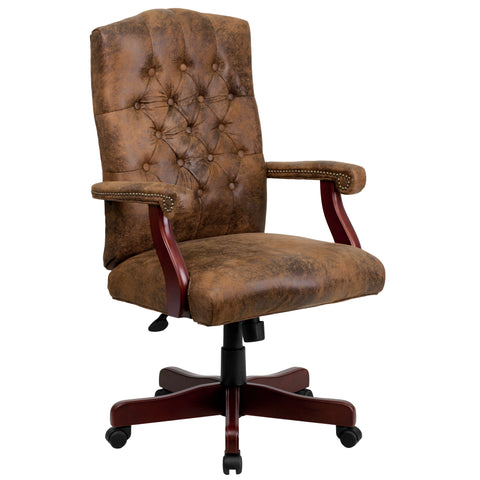 Bomber Classic Executive Swivel Chair with Arms
