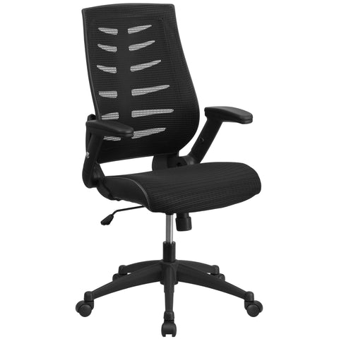 High Back Designer Mesh Executive Swivel Chair Height Adjustable Flip-Up Arms