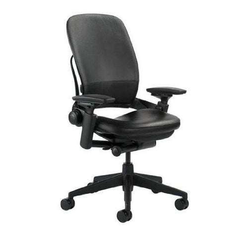 Steelcase Leap V2 Office Chair - Black Leather