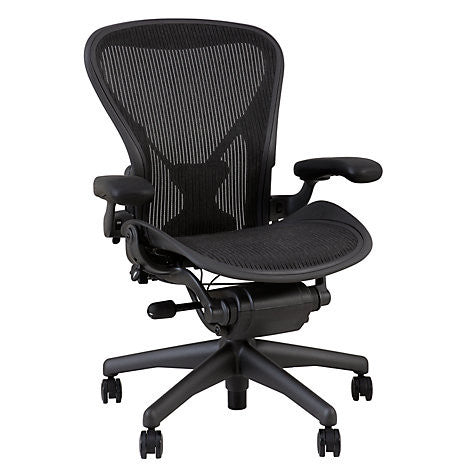 Herman Miller Aeron Loaded Size B Leather Arm