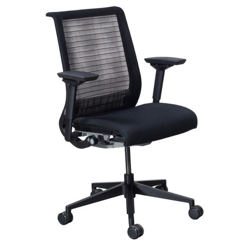 Steelcase Think Chair - Fully Adjustable - Black Mesh