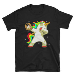 Softball Unicorn T-Shirt, Dabbing Unicorn Apparel