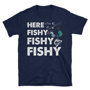 Fishy Fishing Daddy Shirt, Fishing Apparel, Fisherman T Shirt