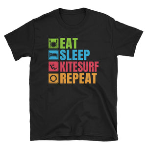 Eat Sleep Kitesurf Repeat T-Shirt, Kitesurf Shirt, Kitesurfing T-Shirt