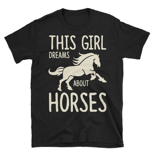This Girl Dreams About Horses Funny Equestrian T-Shirt