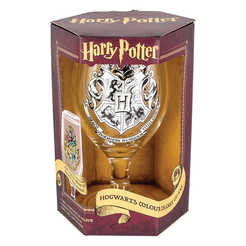 Harry Potter - Hogwarts Colour Change Water Glass