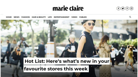 Draper London picked for Marie Claire's 'Hot List'!
