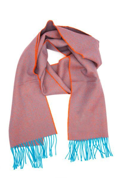 Premium Alpaca Diamond Scarf - Teal/Orange