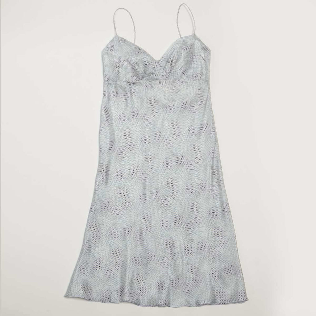 SILK NIGHTIE BLUEBERRY