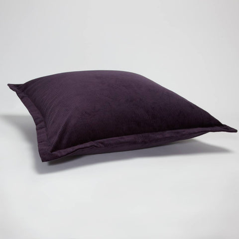 Corduroy Cushion Square Plum