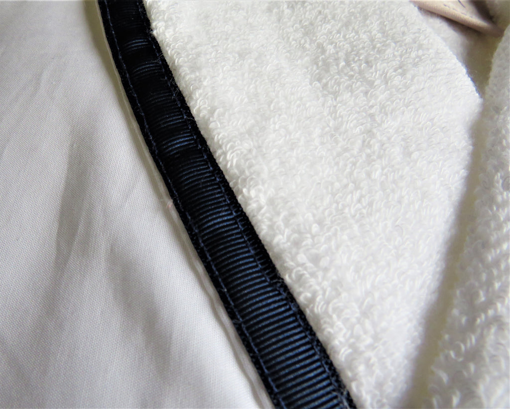 Limited Edition Luxury Bathrobe with grosgrain ribbon trim