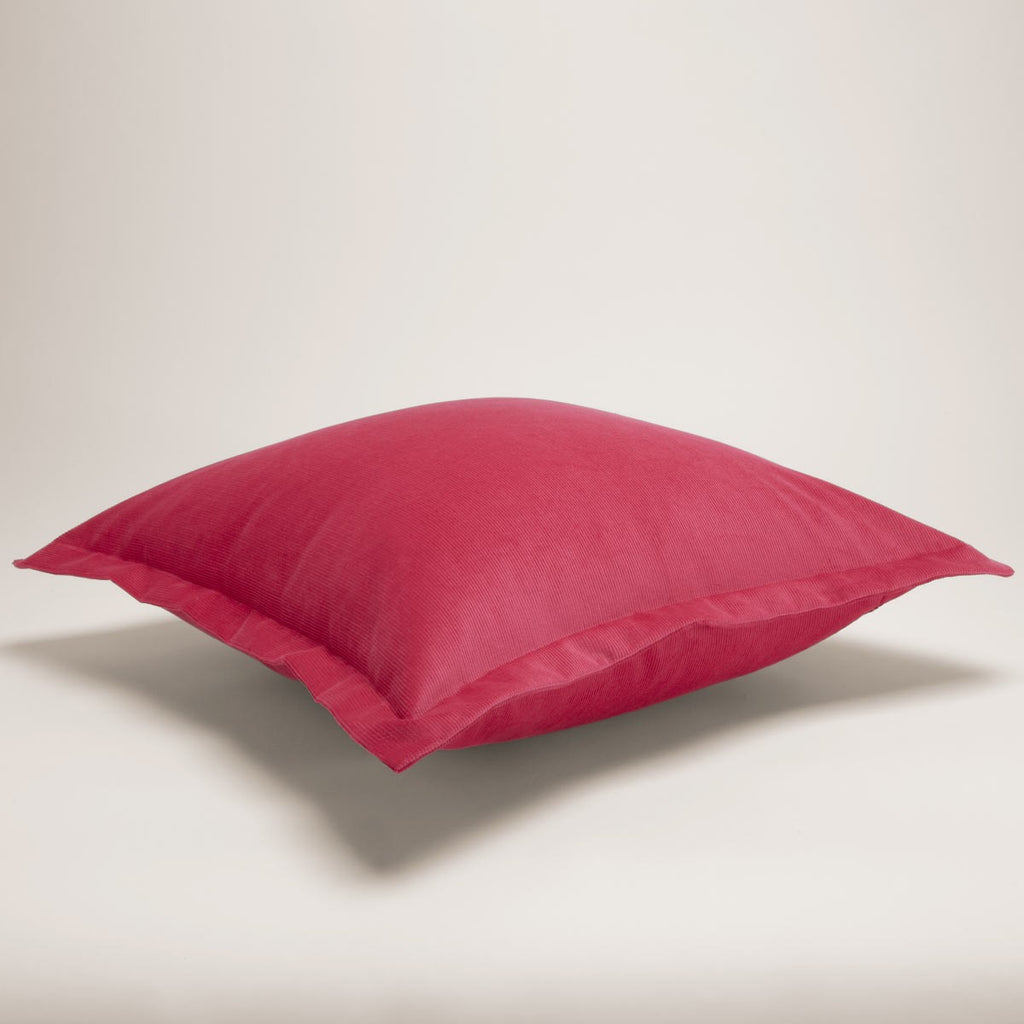 Corduroy Cushion Square Hot Pink