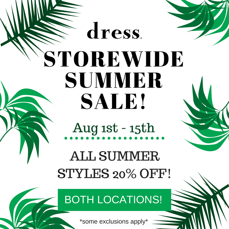 Storewide Summer Sale!