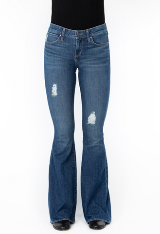 Articles of Society Faith Indianola Flare Jeans Front