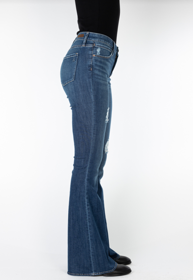 Articles of Society Faith Indianola Flare Jeans Side