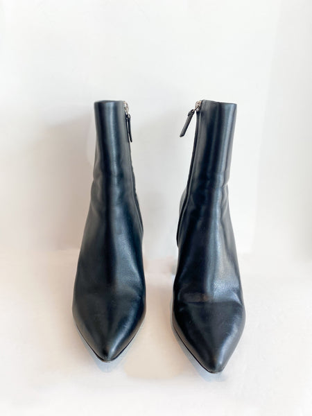 Alexander Wang Leather Boots Black Front