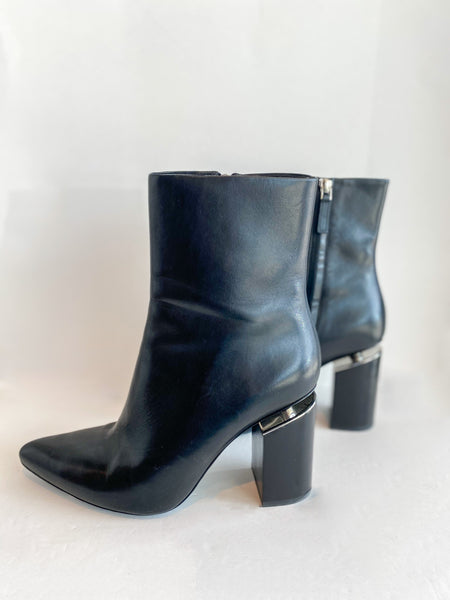 Alexander Wang Leather Boots Black Side