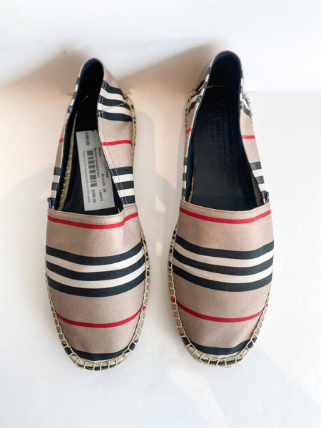 Burberry Alport Stripe Espadrille Top