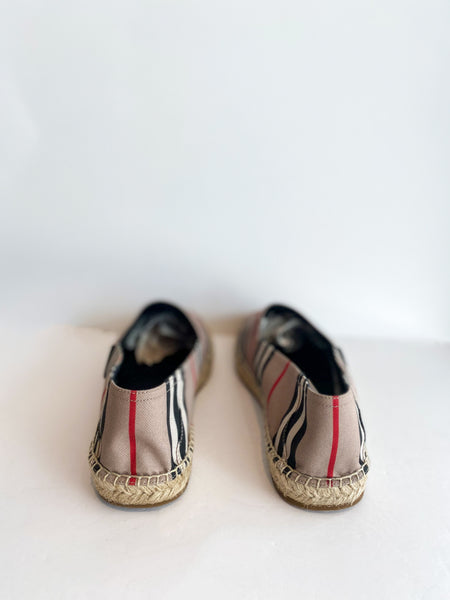 Burberry Alport Stripe Espadrille Back