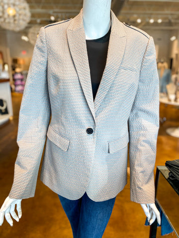 Burberry Seersucker Blazer Gray