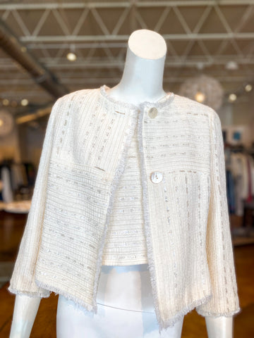 Chanel Blazer Top Ivory