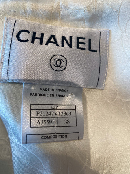 Chanel Embroidered Beaded Blazer Label