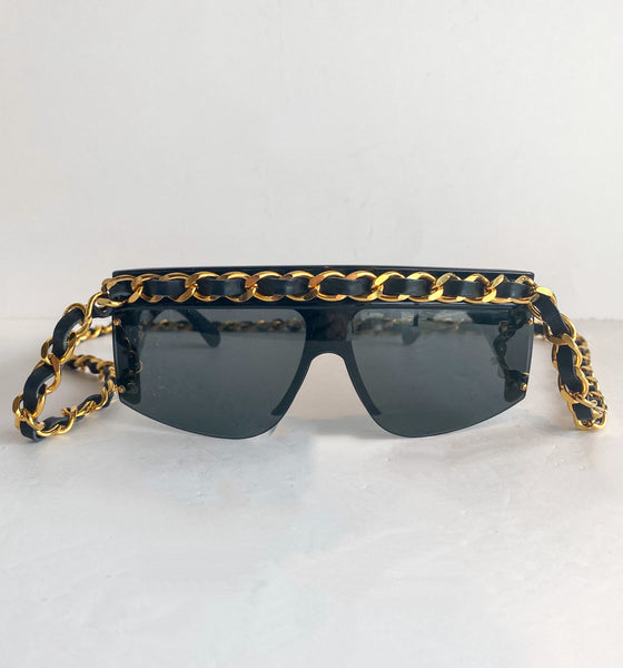 Chanel Chain-link Sunglasses Vintage Front of Sunglasses