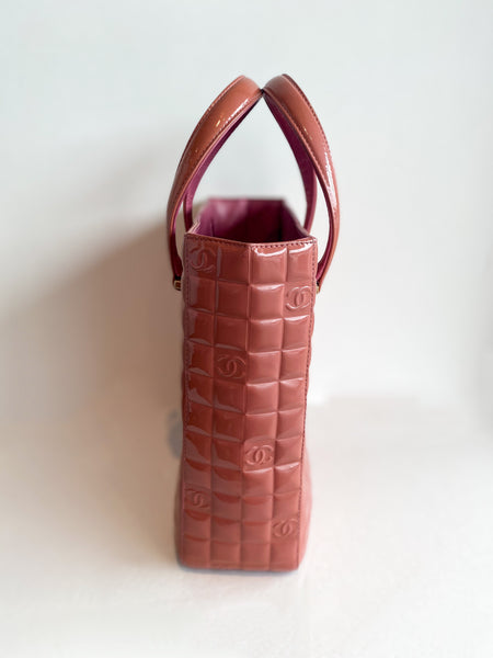 Chanel Chocolate Bar Tote Bag Pink Side
