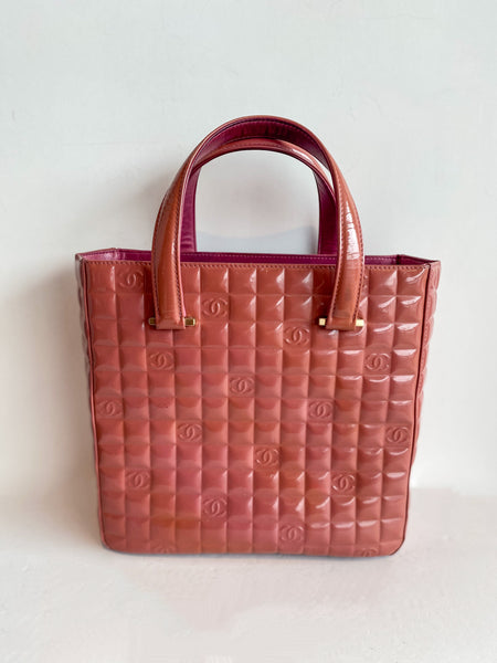 Chanel Chocolate Bar Tote Bag Pink
