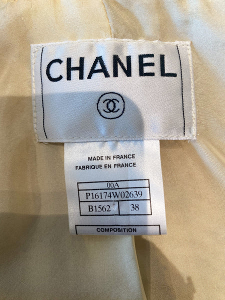 Chanel Tweed Gold Blazer Label