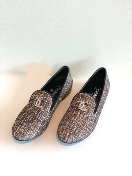 Chanel Tweed Loafers