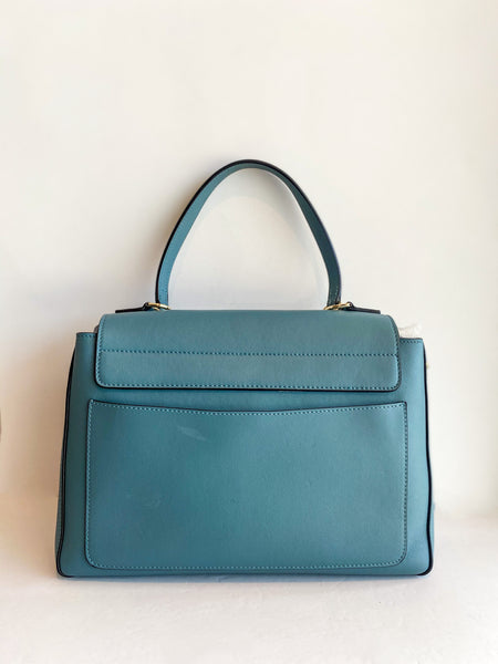 Chloe Faye Day Bag Stormy Blue Back