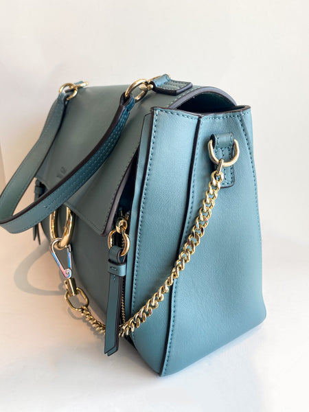 Chloe Faye Day Bag Stormy Blue Side